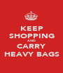 KEEP SHOPPING AND CARRY HEAVY BAGS - Personalised Poster A1 size