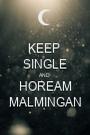 KEEP  SINGLE AND  HOREAM MALMINGAN - Personalised Poster A1 size