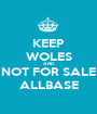 KEEP WOLES AND NOT FOR SALE ALLBASE - Personalised Poster A1 size