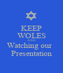 KEEP WOLES AND Watching our   Presentation - Personalised Poster A1 size