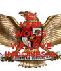 KEEP WOLES AND WE LOVE INDONESIA - Personalised Poster A1 size