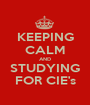 KEEPING CALM AND STUDYING FOR CIE's - Personalised Poster A1 size