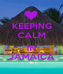 KEEPING CALM  IN JAMAICA - Personalised Poster A1 size