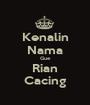 Kenalin Nama Gue Rian Cacing - Personalised Poster A1 size