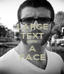LARGE TEXT OVER A FACE - Personalised Poster A1 size