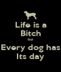 Life is a Bitch but Every dog has Its day - Personalised Poster A1 size