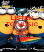 LISTEN TO MUSIC AND SAY LOL - Personalised Poster A1 size