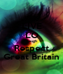 LIVE LO Laugh Respect Great Britain - Personalised Poster A1 size