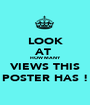 LOOK AT  HOW MANY VIEWS THIS POSTER HAS ! - Personalised Poster A1 size