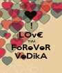 ! LOv€ YoU FoReVeR VeDikA - Personalised Poster A1 size