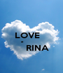 LOVE     e                   RINA  - Personalised Poster A1 size