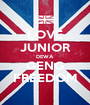 LOVE JUNIOR DEWA GENG FREEDOM - Personalised Poster A1 size