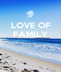 LOVE OF FAMILY    - Personalised Poster A1 size