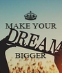 MAKE YOUR    BIGGER - Personalised Poster A1 size