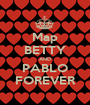 Map BETTY AND PABLO FOREVER - Personalised Poster A1 size