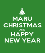 MARU CHRISTMAS AND HAPPY NEW YEAR - Personalised Poster A1 size