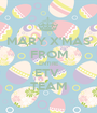 MARY X'MAS FROM ENTIRE ETV  TEAM - Personalised Poster A1 size
