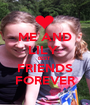 ME AND LILY  BEST  FRIENDS FOREVER - Personalised Poster A1 size