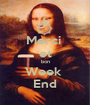 Merci  et bon Week  End - Personalised Poster A1 size