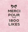 MERCI POUR VOS 1800 LIKES - Personalised Poster A1 size