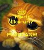 Merit like-uri?  PLEEEASE!  - Personalised Poster A1 size
