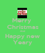 Merry  Christmas And Happy new Yeary - Personalised Poster A1 size
