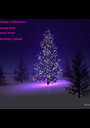 merry christmas  everyone love from  thomas stone - Personalised Poster A1 size