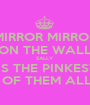 MIRROR MIRROR ON THE WALL SALLY  IS THE PINKEST  OF THEM ALL - Personalised Poster A1 size