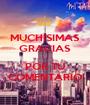 MUCHÍSIMAS GRACIAS  POR TU COMENTARIO - Personalised Poster A1 size