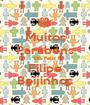 Muitos Parabéns Dia Feliz Filipe Beijinhos - Personalised Poster A1 size
