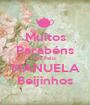 Muitos Parabéns Dia Feliz MANUELA Beijinhos - Personalised Poster A1 size
