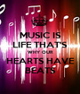 MUSIC IS LIFE THAT'S WHY OUR HEARTS HAVE BEATS - Personalised Poster A1 size