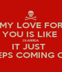 MY LOVE FOR YOU IS LIKE  DIARREA IT JUST   KEEPS COMING OUT - Personalised Poster A1 size