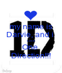 my name is Darvie, and i  Love  One  Direction!!! - Personalised Poster A1 size