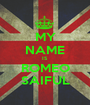 MY NAME IS ROMEO SAIFUL - Personalised Poster A1 size