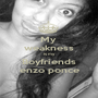 My  weakness is my Boyfriends enzo ponce - Personalised Poster A1 size
