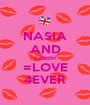 NASIA AND KAREEM =LOVE 4EVER - Personalised Poster A1 size