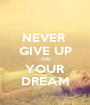 NEVER  GIVE UP ON YOUR DREAM - Personalised Poster A1 size