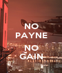 NO PAYNE  NO GAIN - Personalised Poster A1 size