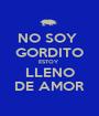 NO SOY  GORDITO ESTOY  LLENO DE AMOR - Personalised Poster A1 size