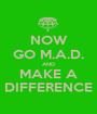 NOW GO M.A.D. AND MAKE A DIFFERENCE - Personalised Poster A1 size