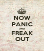 NOW PANIC AND FREAK OUT - Personalised Poster A1 size