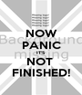 NOW PANIC IT'S NOT  FINISHED! - Personalised Poster A1 size