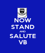 NOW STAND AND SALUTE VB - Personalised Poster A1 size