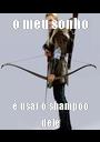o meu sonho é usar o shampoo dele - Personalised Poster A1 size