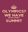OLYMPICS? WE HAVE RECRUITMENT SUMMIT  - Personalised Poster A1 size