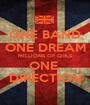 ONE BAND ONE DREAM MILLIONS OF GIRLS ONE  DIRECTION - Personalised Poster A1 size