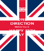 ONE DIRECTION Wishes You A HAPPY 13TH BIRTHDAY Jadene - Personalised Poster A1 size