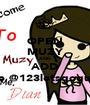 OPEN MUZY AND ADD Me @123letsgoguys - Personalised Poster A1 size