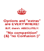 "Options and ""extras"" are EVERYWHERE! BUT, there's ABSOLUTELY: ""No competition"" (&) ""no Confusion :)"" - Personalised Poster A1 size"